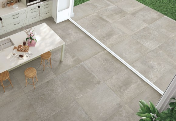 INDOOR: HYBRID OFF GREY RETTIFICATO 90x90 / OUTDOOR: HYBRID OFF GREY RETTIFICATO 90x90 - 20MM